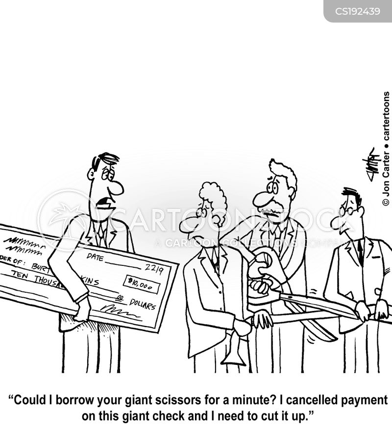 checking accounts cartoon