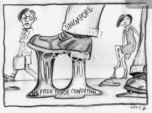 free trade cartoon