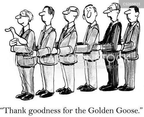 corporate chains cartoon