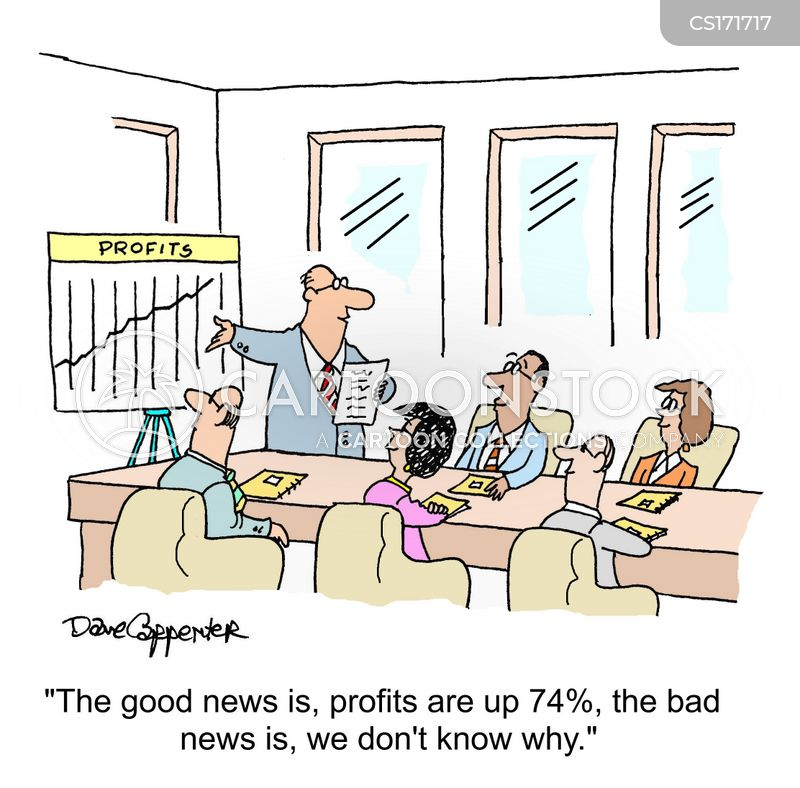 profits up cartoon