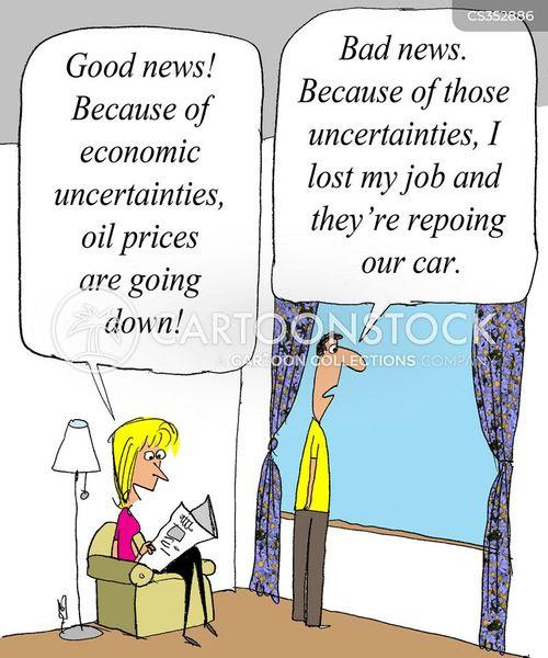 economic uncertainty cartoon