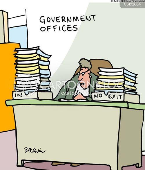 filing paper cartoon