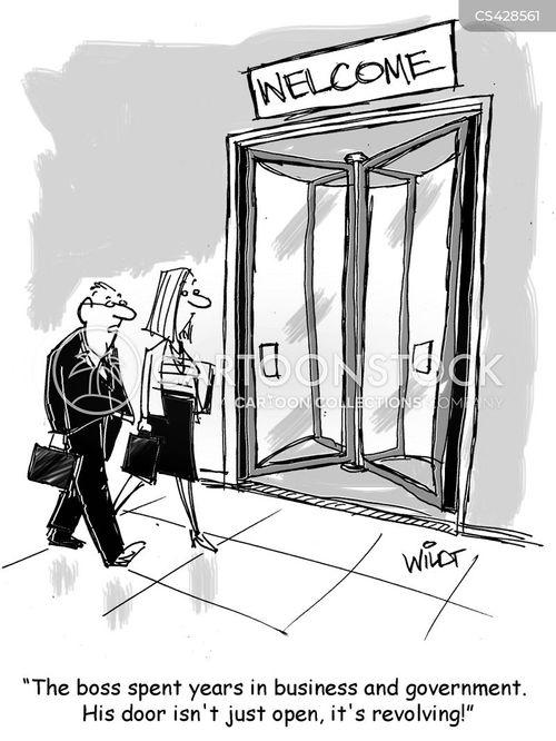 Image result for revolving door cartoon