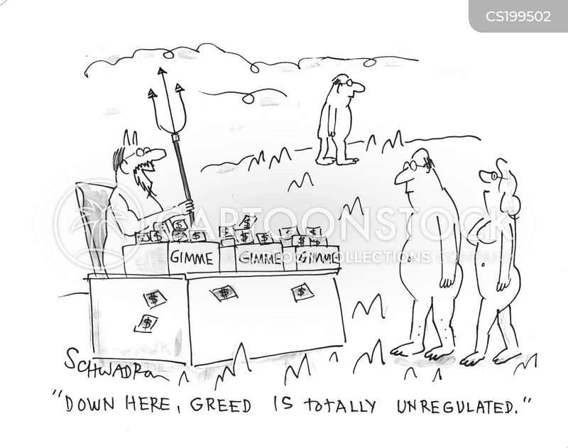 greed is good cartoon