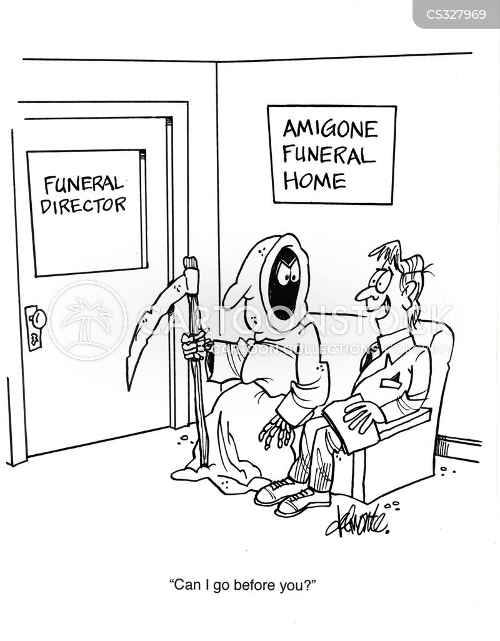 waiting for death cartoon