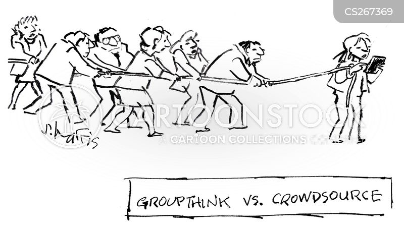 crowd source cartoon