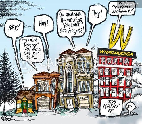 housing project cartoon