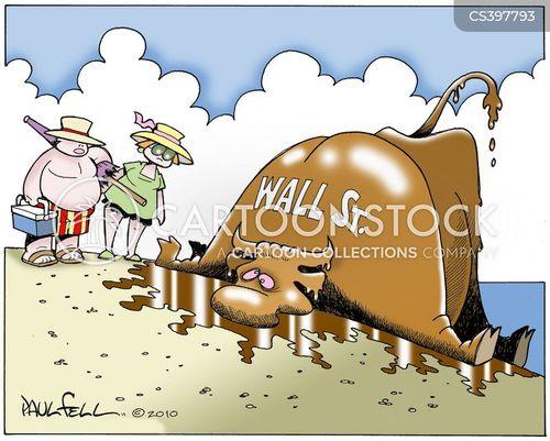 stock price cartoon
