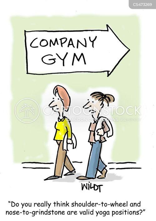 yoga teachers cartoon