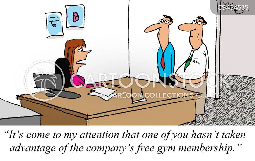 gym memberships cartoon