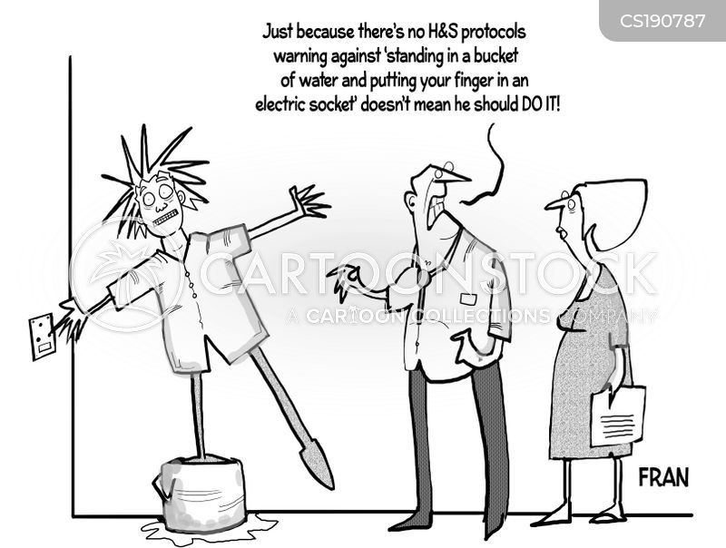 safety measures cartoon