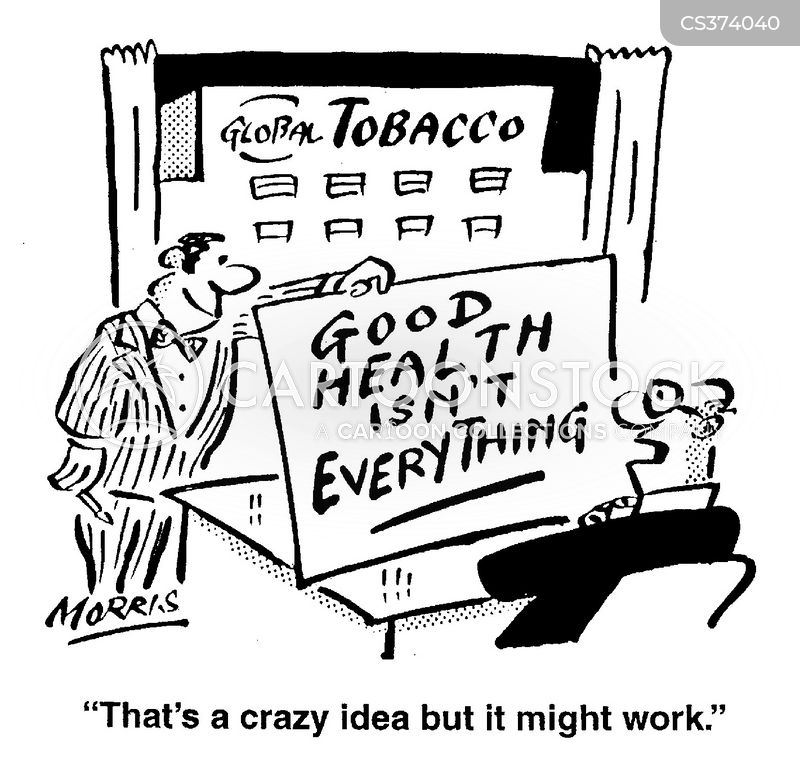 tobacco companies cartoon