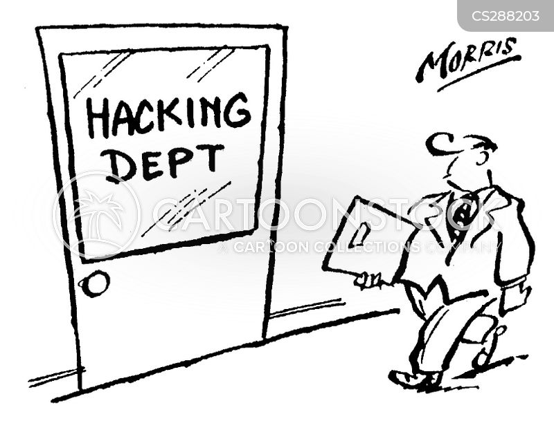 Image result for cartoon of someone hacking something