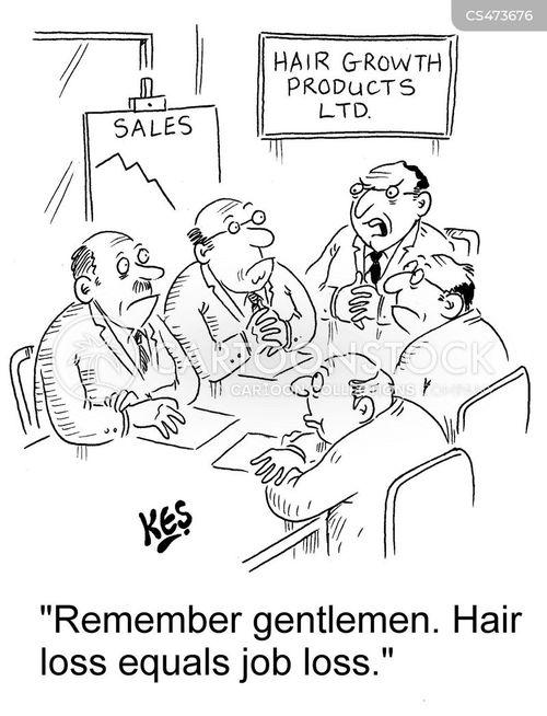 male-pattern baldness cartoon