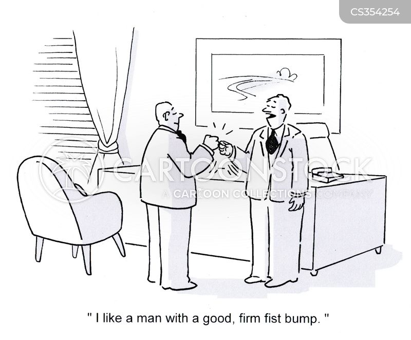 fist bumps cartoon