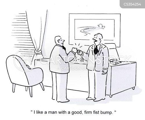 fist bump cartoon