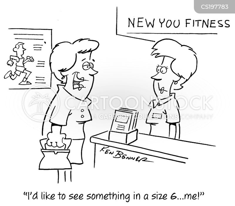 fitness regimes cartoon
