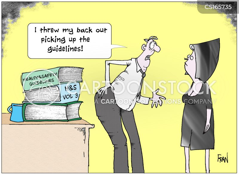 back strain cartoon