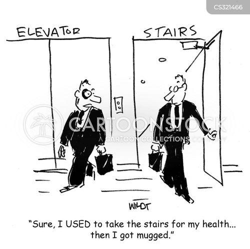 taking stairs cartoon