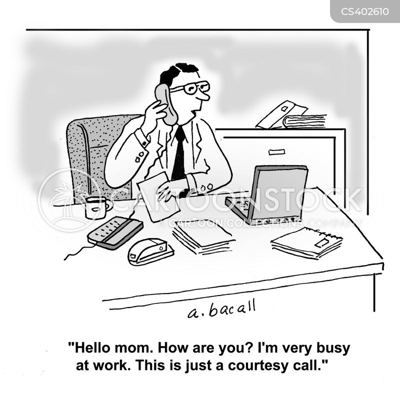 social call cartoon