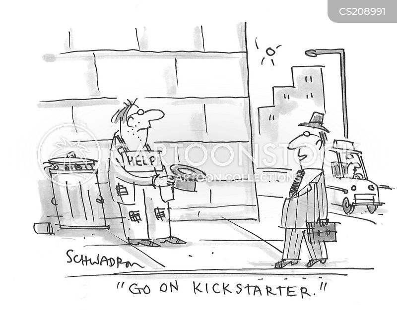 crowdfunding cartoon