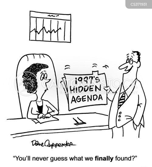 hidden agenda cartoon