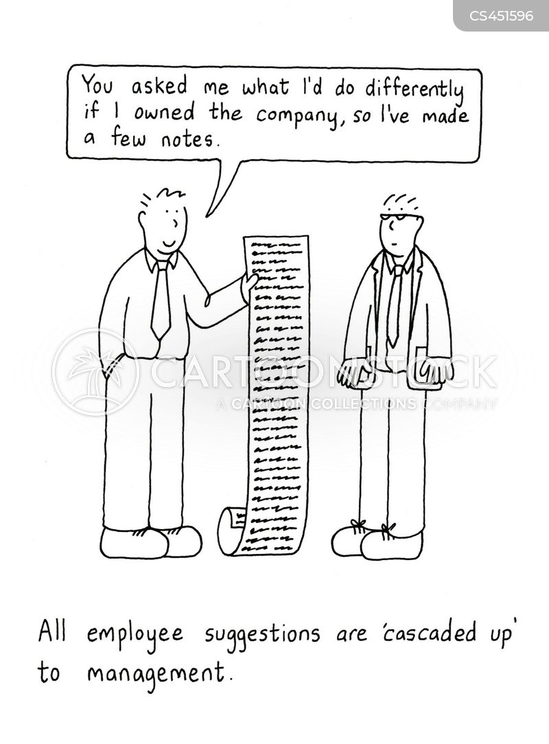 company hierarchy cartoon