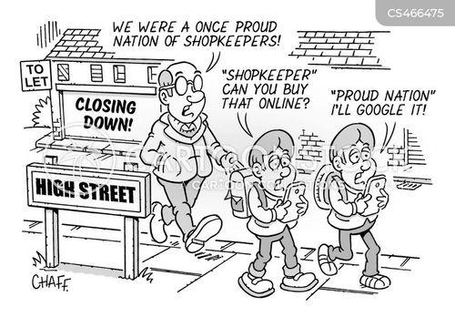town centres cartoon