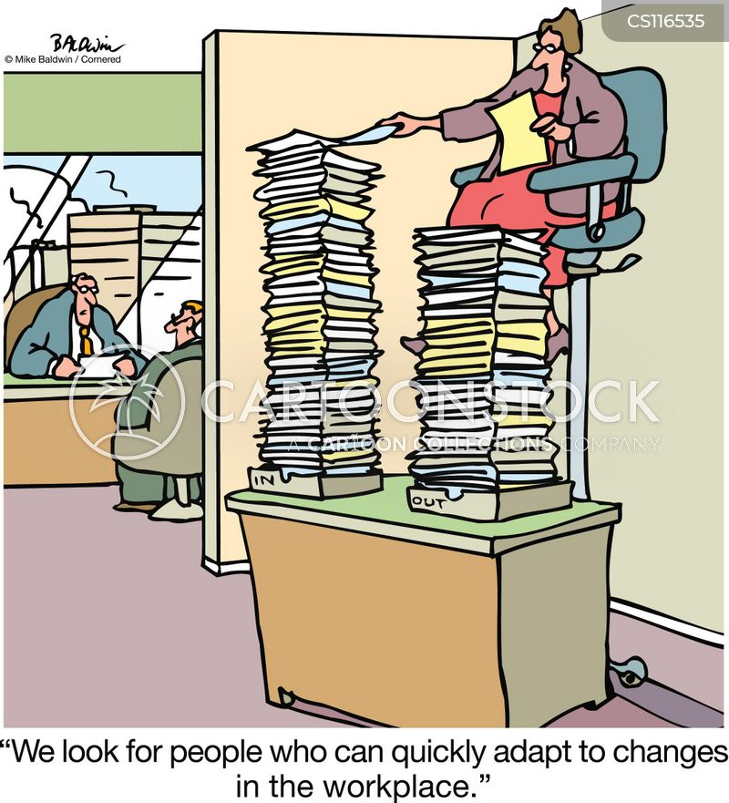 changes in the workplace cartoon