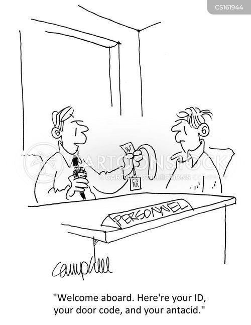 employs cartoon