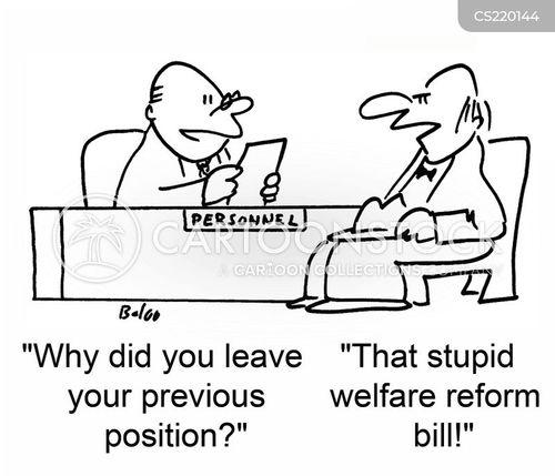 welfare reform cartoon