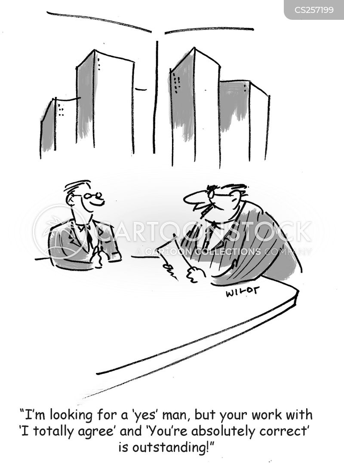 self effacing cartoon