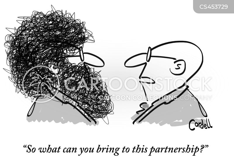 works together cartoon