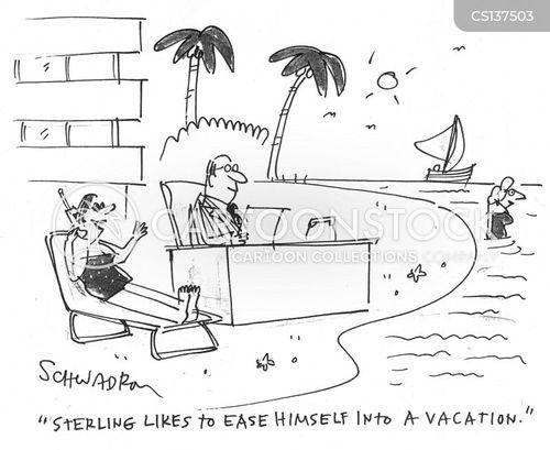 portable offices cartoon