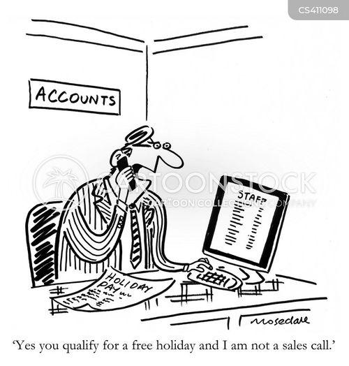 holiday pays cartoon 3 of 4 - Holiday Cartoons Free