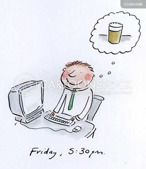 end of the week cartoon