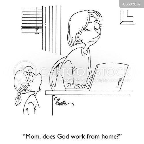remote workers cartoon