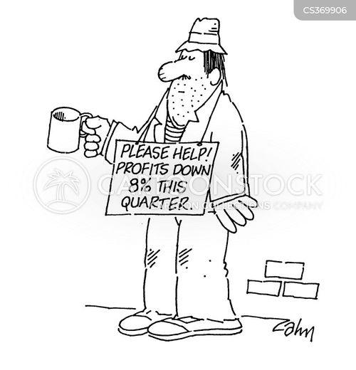 profits down cartoon