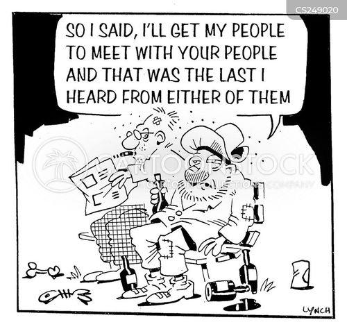 personal history cartoon