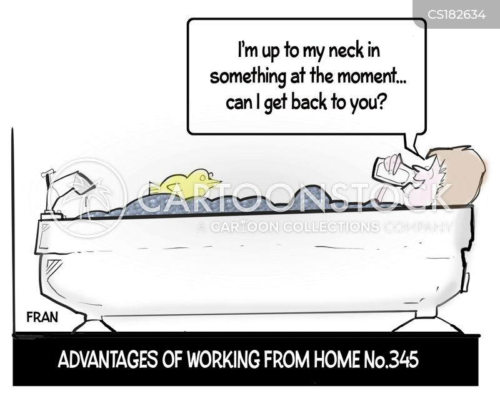 home working cartoon