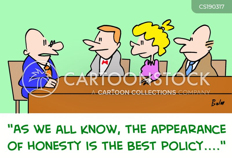 honesty is the best policy cartoon