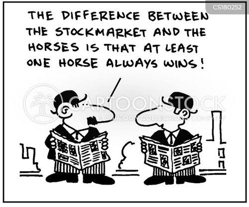 horse race cartoon