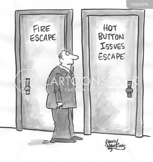 hot button issues cartoon