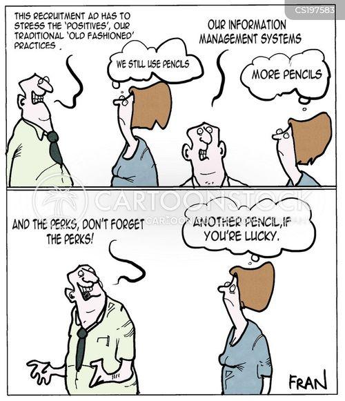 recruitment ad cartoon