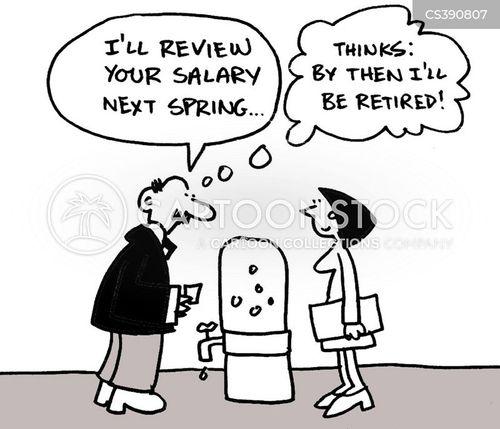salary reviews cartoon