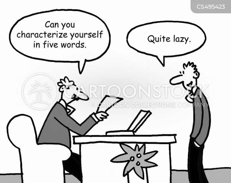 selling yourself cartoon