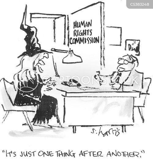 discriminated against cartoon