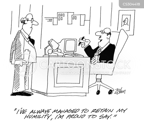 egotistical boss cartoon