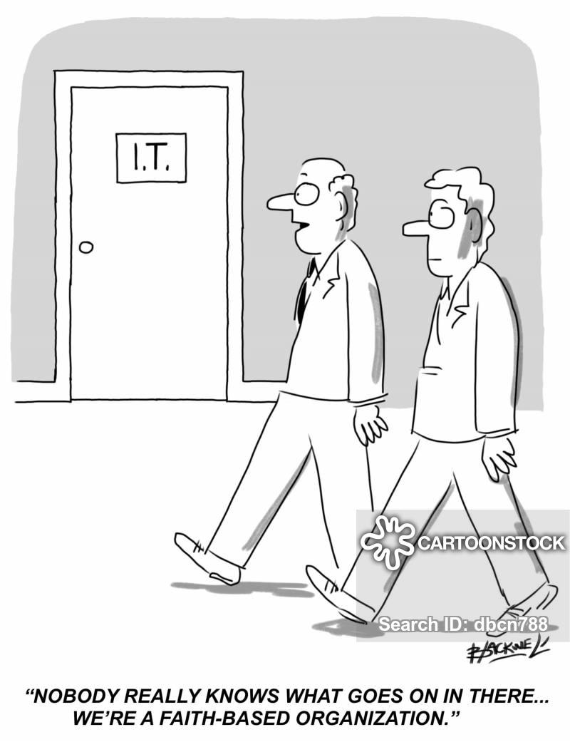 fear of technology cartoon
