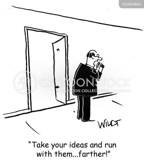 take the initiative cartoon